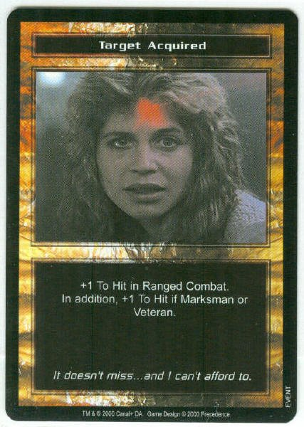 Terminator CCG Target Acquired Precedence Game Card Unplayed