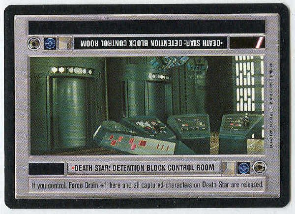 Star Wars CCG Death Star Detention Block Control Room Uncommon LS Card Unplayed