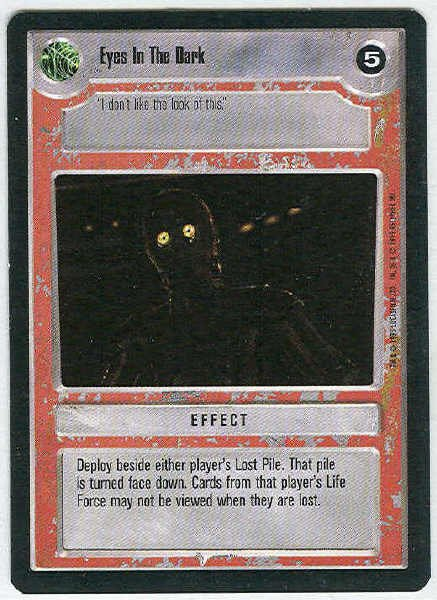 Star Wars CCG Eyes In The Dark Premier Uncommon LS Card Uplayed