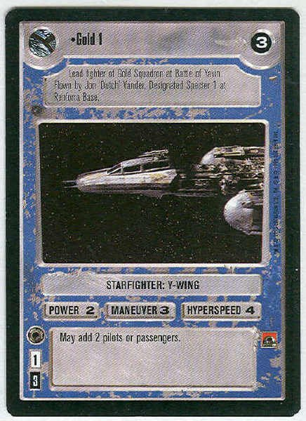 Star Wars CCG Gold 1 Premiere Limited Rare LS Game Card Unplayed