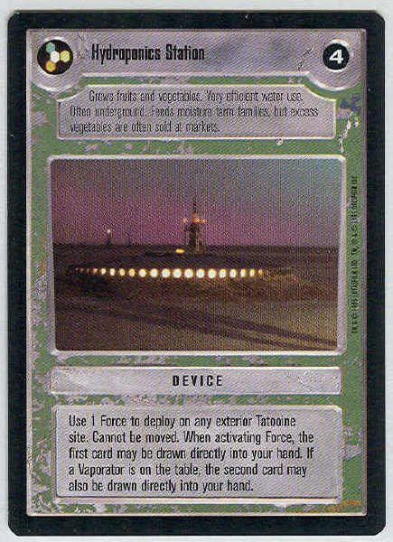Star Wars CCG Hydroponics Station Uncommon LS Card Unplayed
