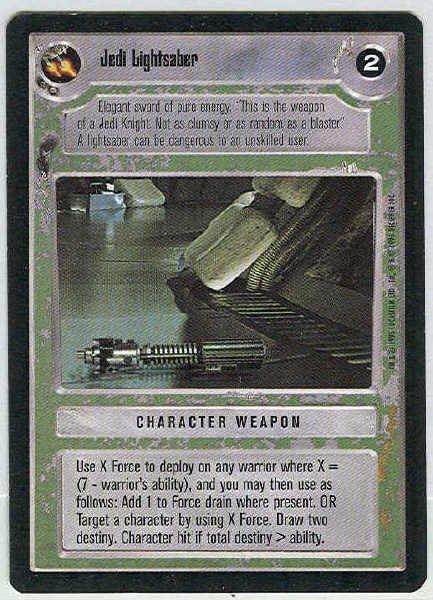 Star Wars CCG Jedi Lightsaber Uncommon LS Game Card Unplayed