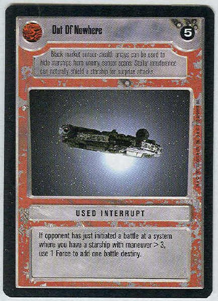 Star Wars CCG Out Of Nowhere Premiere Uncommon LS Game Card Unplayed