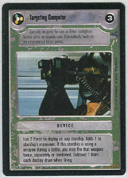 Star Wars CCG Targeting Computer Uncommon LS Game Card Unplayed