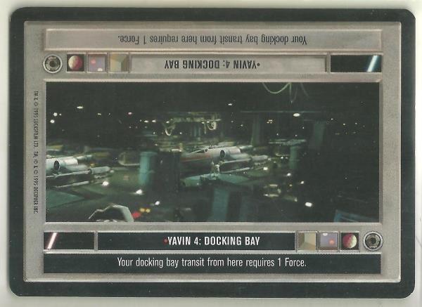 Star Wars CCG Yavin 4 Docking Bay DS Limited Game Card Unplayed
