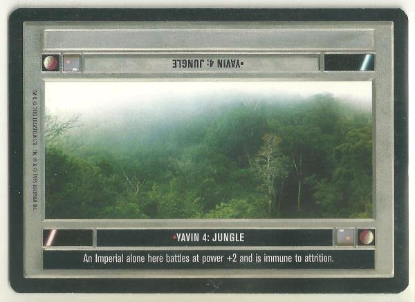 Star Wars CCG Yavin 4 Jungle Uncommon DS Game Card Unplayed