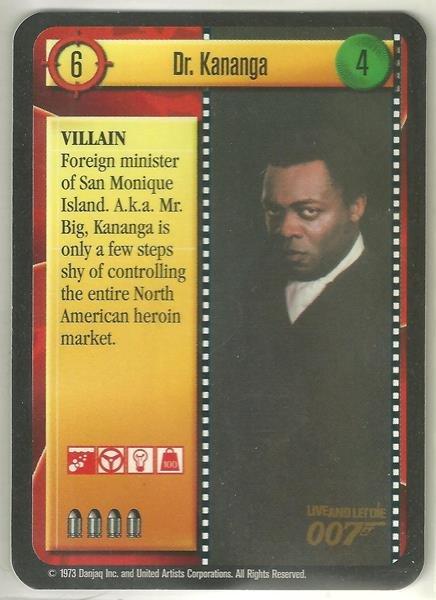 James Bond 007 CCG Dr. Kananga Game Card Live and Let Die