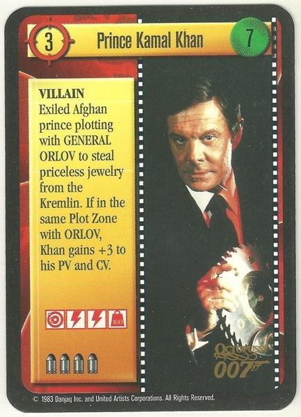 James Bond 007 CCG Prince Kamal Khan Game Card Octopussy