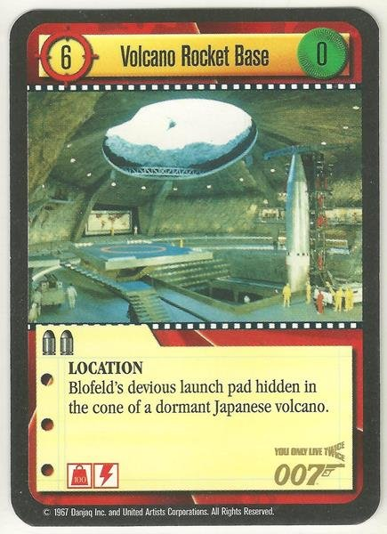 James Bond 007 CCG Volcano Rocket Base Game Card You Only Live Twice