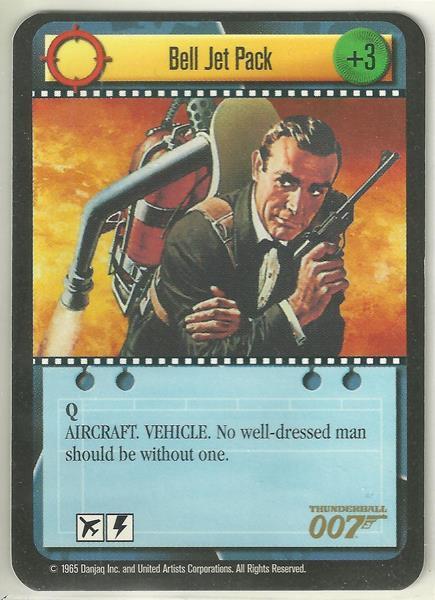 James Bond 007 CCG Bell Jet Pack Uncommon Game Card Thunderball