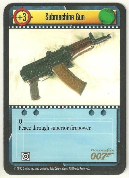 James Bond 007 CCG Submachine Gun Uncommon Game Card Goldeneye