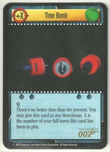 James Bond 007 CCG Time Bomb Uncommon Game Card Goldeneye