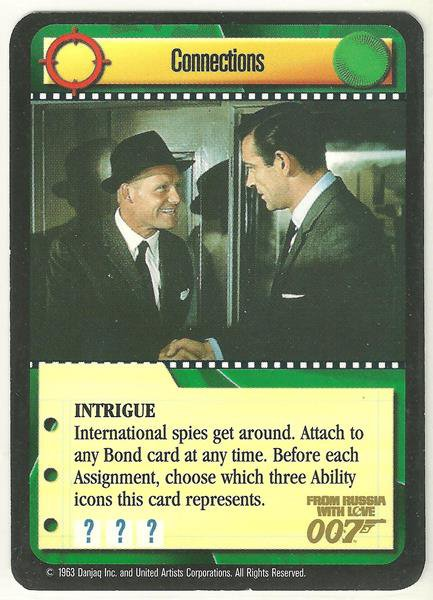 James Bond 007 CCG Connections Chase Game Card From Russia With Love