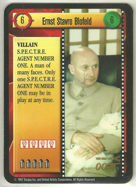 James Bond 007 CCG Ernst Stavro Blofeld Chase Game Card You Only Live Twice