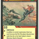 James Bond 007 CCG One step forward, two steps back Chase Game Card Thunderball