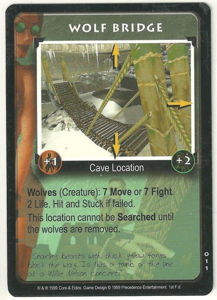 Tomb Raider CCG Wolf Bridge 011 Starter Game Card Unplayed