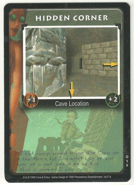 Tomb Raider CCG Hidden Corner 015 Starter Game Card Unplayed