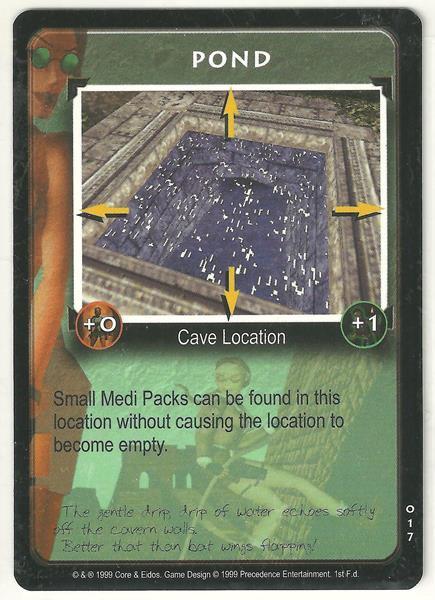 Tomb Raider CCG Pond 017 Starter Game Card Unplayed