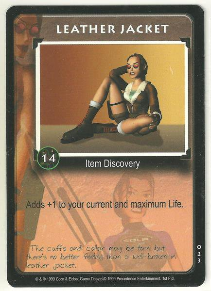 Tomb Raider CCG Leather Jacket 023 Starter Game Card Unplayed