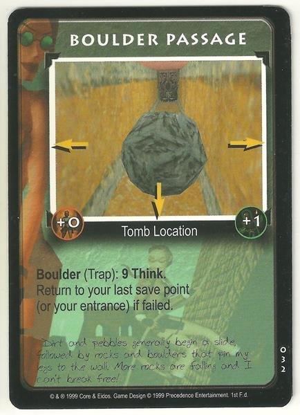 Tomb Raider CCG Boulder Passage 032 Starter Game Card Unplayed