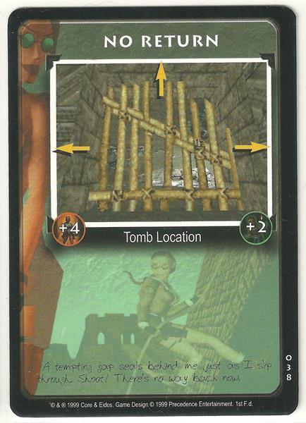 Tomb Raider CCG No Return 038 Starter Game Card Unplayed