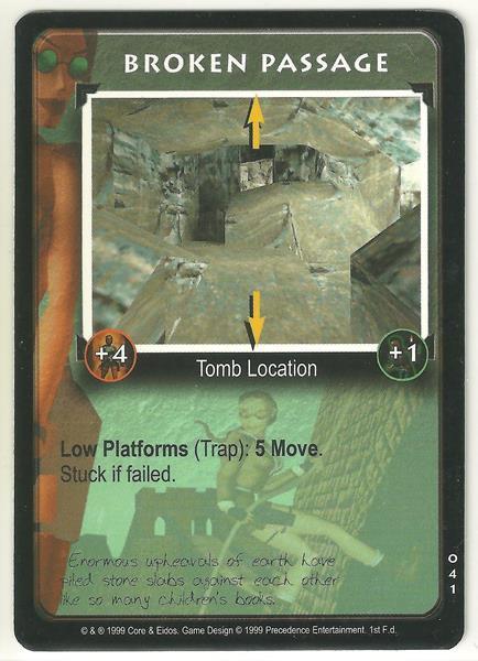 Tomb Raider CCG Broken Passage 041 Starter Game Card Unplayed