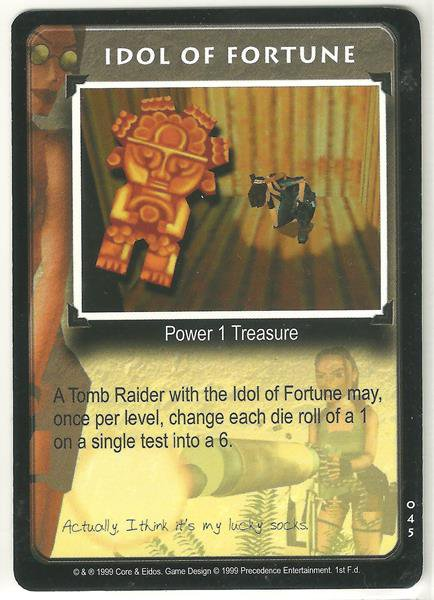 Tomb Raider CCG Idol of Fortune 045 Starter Game Card Unplayed