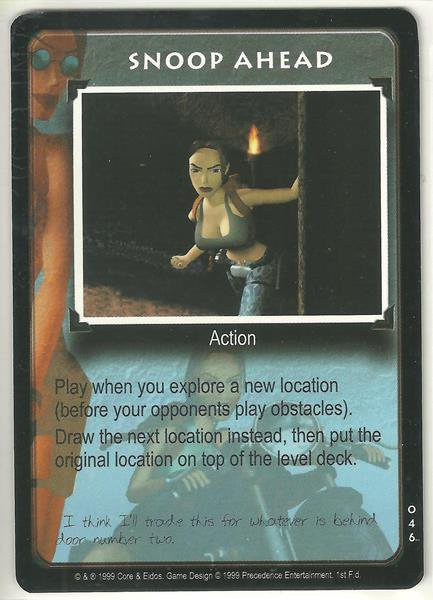 Tomb Raider CCG Snoop Ahead 046 Starter Game Card Unplayed
