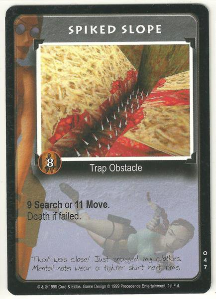 Tomb Raider CCG Spiked Slope 047 Starter Game Card Unplayed