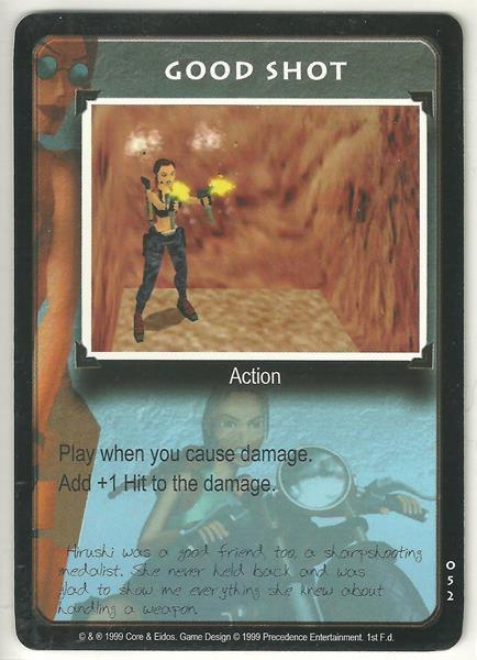 Tomb Raider CCG Good Shot 052 Common Starter Game Card Unplayed