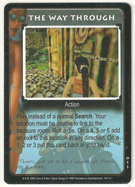 Tomb Raider CCG The Way Through 053 Common Starter Game Card Unplayed
