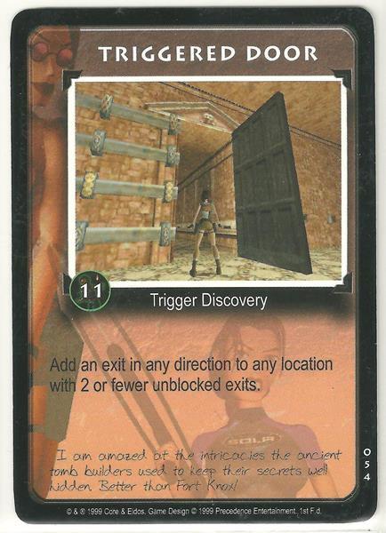 Tomb Raider CCG Triggered Door 054 Common Starter Game Card Unplayed