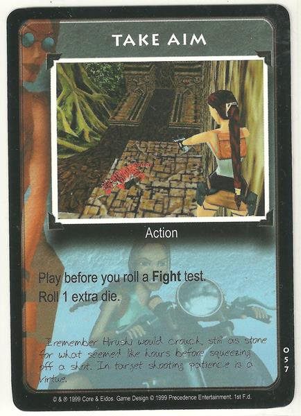 Tomb Raider CCG Take Aim 057 Common Starter Game Card Unplayed