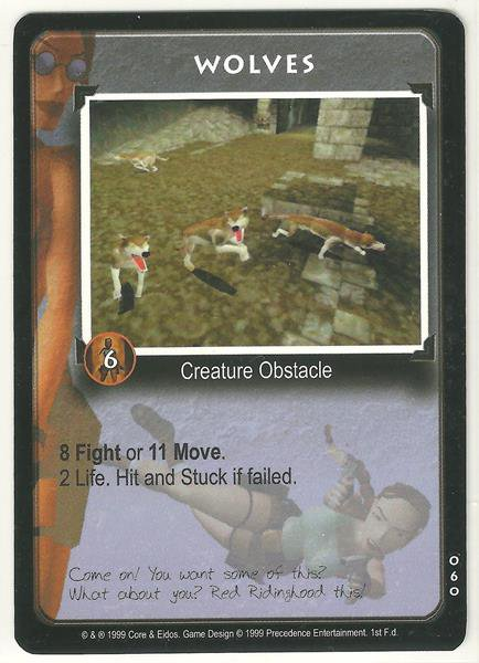 Tomb Raider CCG Wolves 060 Common Starter Game Card Unplayed