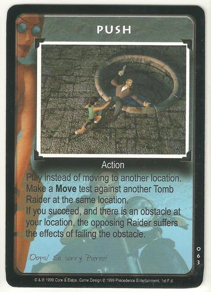 Tomb Raider CCG Push 063 Common Starter Game Card Unplayed