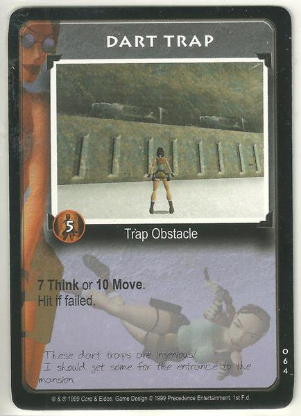 Tomb Raider CCG Dart Trap 064 Common Starter Game Card Unplayed