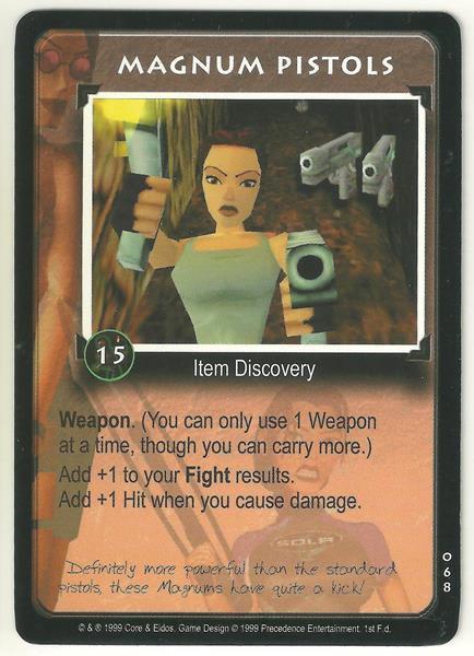 Tomb Raider CCG Magnum Pistols 068 Common Starter Game Card Unplayed