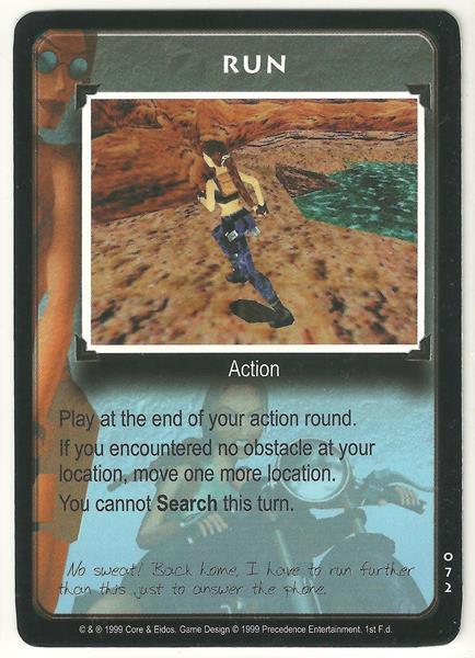 Tomb Raider CCG Run 072 Common Starter Game Card Unplayed