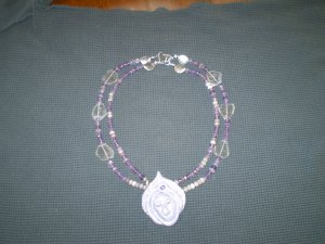 Stunning Amethyst Necklace with Handcrafted Goddess Pendant