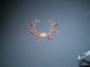 Handcrafted Copper Wire Bracelet with Carnelian Drops