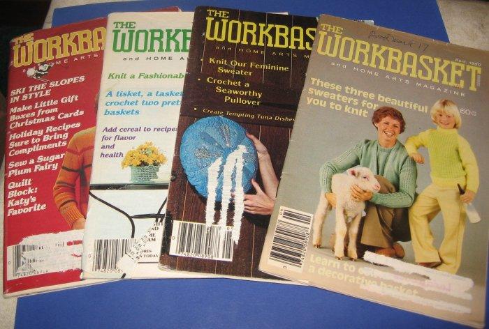 Workbasket magazines lot of 4 1980 1982