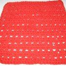 Red Crochet Dish Cloth