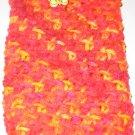 Crochet Eyeglass Case reds and yellows
