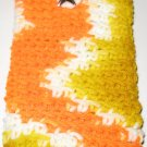 Crochet Eyeglass Case gold and orange variegated