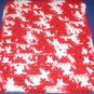 Red and white Crochet Dish Cloth