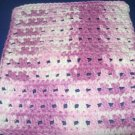 Purple and white variegated Crochet Dish Cloth