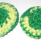 Green Bay Packers green and yellow crochet scrubbies pot scrubbers
