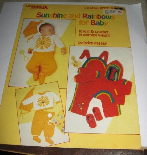 Sunshine and rainbows for Baby Leisure Arts 277 by Helen Passey