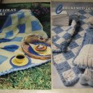 Aunt Lolas and checkered quilts afghan Annies Attic Crochet pattern
