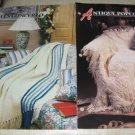 Cables Concerto and Antique Popcorn afghan Annies Attic Crochet pattern